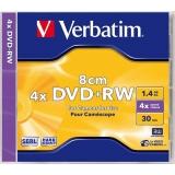 DVD+RW Verbatim 4X 1,4GB 8CM MINI JC 43565