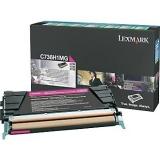 Cartus Toner Lexmark C736H1MG Magenta Return Program 10000 pagini for C736DN, C736DTN, C736N, X736DE, X738DE, X738DTE