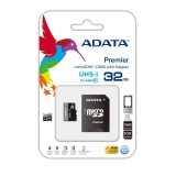 Card Memorie MicroSDHC ADATA 32GB Clasa 10 UHS-I + Adaptor SD AUSDH32GUICL10-RA1