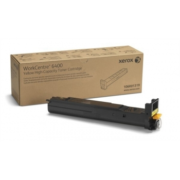 Cartus Toner Xerox 106R01319 Yellow High Capacity 14000 pagini for Xerox WorkCentre 6400S, 6400X