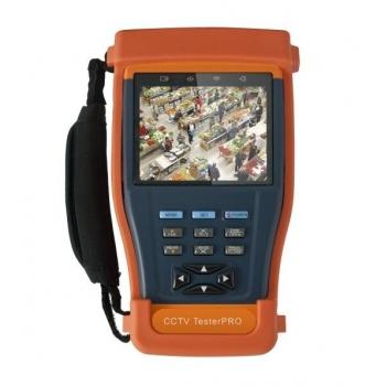 """Dispozitiv multifunctional portabil de testare si reglare a sistemelor CCTV T-896 echipat cu un ecran TFT de 3.5""""."""