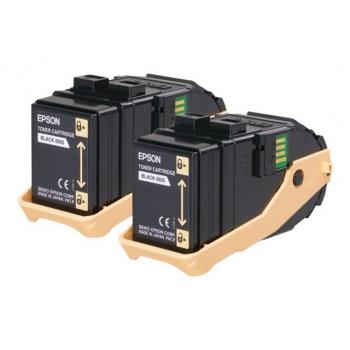 Pachet Cartus Toner Epson C13S050609 Black 2 Bucati 2x6500 Pagini for Aculaser C9300D2TN, C9300D3TNC, C9300DN, C9300DTN, C9300N, C9300TN