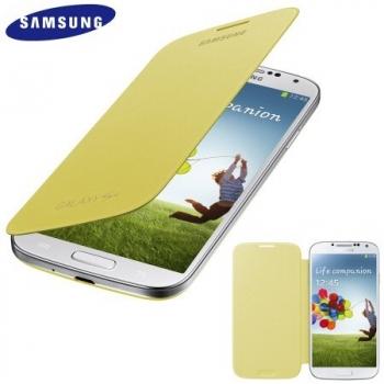 Husa Samsung Flip Cover pentru i9505 Galaxy S IV yellow EF-FI950BYEGWW