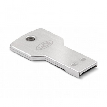 Memorie USB LaCie PetiteKey 32GB USB 2.0 AES 256-bit encryption waterproof and scratch-resistant Metalic 9000348
