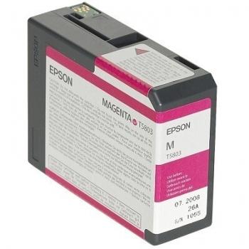 Cartus Cerneala Epson T5803 Vivid Magenta 80ml for Stylus Pro 3800, Stylus Pro 3880 C13T580300