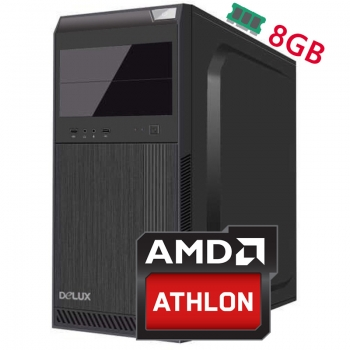 Sistem PC Bocris AMD Athlon 200GE 3.2GHz RAM 8GB DDR4 HDD 1TB AMD Radeon Vega 3 SISTEMAMD_ATH200GE8GB