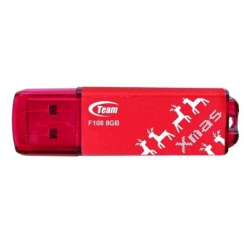 Memorie USB Team Group F108 8GB USB 2.0 Red Winter TG008GF108RX