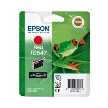 Cartus Cerneala Epson T0547 Red 13ml for Epson Stylus Photo R1800, Stylus Photo R800 C13T05474010