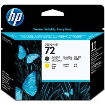Cap Printare HP Nr. 72 Matte Black & Yellow for DesignJet T1100, HP DesignJet T610 C9384A