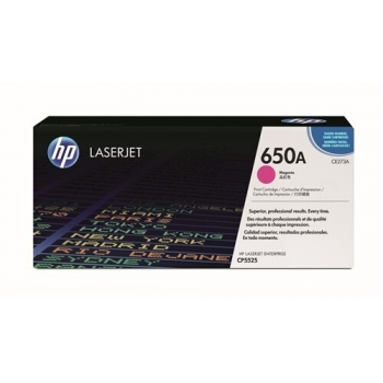 Cartus Toner HP Nr. 650A Magenta 15000 Pagini for Color LaserJet CP5525DN, CP5525N, CP5525XH CE273A
