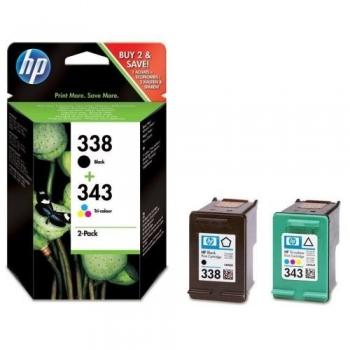 Pachet Cartuse Cerneala HP Nr. 338/343 Black/Color for Deskjet 6540, Deskjet 6540D, Deskjet 6620 SD449EE