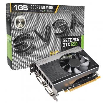 Placa Video EVGA nVidia GeForce GTX 650 SuperClocked 1GB GDDR5 128bit PCI-E x16 3.0 miniHDMI 2x DVI 01G-P4-2652-KR