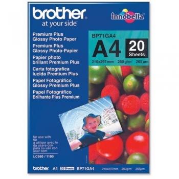 Hartie Foto Brother BP71GA4 Glossy Dimensiune: A4 Numar coli: 20