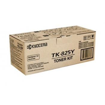 Cartus Toner Kyocera TK825Y Yellow 7000 Pagini for KM-C2520, KM-C2525E, KM-C3225, KM-C3232, KM-C4035E