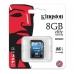Card Memorie SDHC Kingston 8GB Clasa de viteza 10 SD10G3/8GB