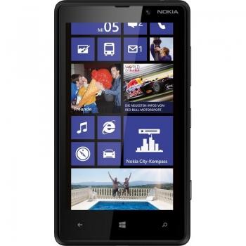 "Telefon Mobil Nokia Lumia 820 Black 3G 4G 4.3"" 480 x 800 AMOLED Krait Dual Core 1.5GHz memorie interna 8GB Windows 8 Phone NOK820BLK"