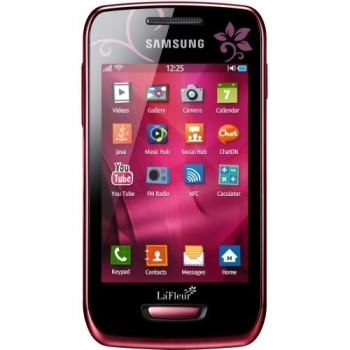 Telefon Mobil Samsung Wave Y S5380 Wine Red La Fleur 832 MHz Bada SAMS5380RED