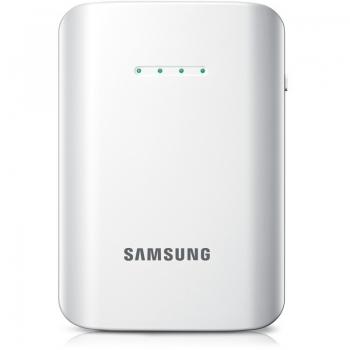 Incarcator portabil Samsung universal EEB-EI1CWEGSTD White cu baterie de 9000 mAh