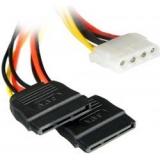 4World Cablu alimentare MOLEX- 2x SATA F/M, 15cm 06858