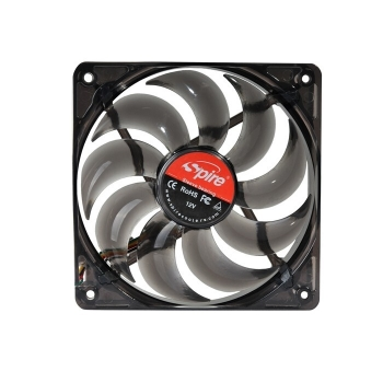 Cooler Carcasa Spire 120x120x25mm Red LED Sleeve,Bearing 600-1800rpm±10% 4Pin Connector Fan,PWM SP12025S1L4-R-PWM