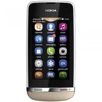 """Telefon Mobil Nokia Asha 311 White 3G 3"""" 240 x 400 pixeli Gorilla Glass 1000 MHz WiFi NOK311WHT"""