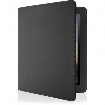Husa tableta Belkin Verve Folio black pentru iPad generatia a 2-a cu functie de stand F8N613CWC00