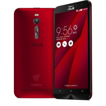 "Telefon Mobil Asus Zenfone 2 4G Red Dual SIM 5.5"" 1080 x 1920 Intel Atom Quad Core 1,8 GHz memorie interna 32GB Camera Foto 13MPx Android v5.0 QM_109094"