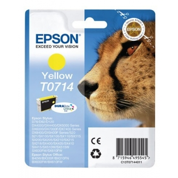 Cartus Cerneala Epson T0714 Yellow 5.5ml for Stylus D78, DX 4000, 4050, 5000, 5050, 6000, 6050, 7000F C13T07144011