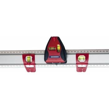 Rigla cu laser si bule din material acrilic, lungime 80 cm