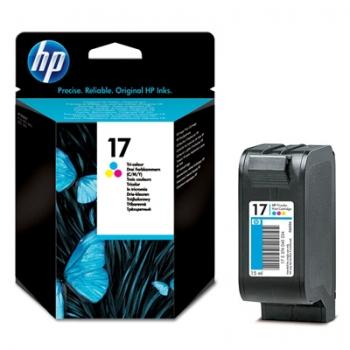 Cartus Cerneala HP Nr. 17 Color 15 ml for Deskjet 825C, Deskjet 840C, Deskjet 841C, Deskjet 842C, Deskjet 843C, Deskjet 845C C6625A
