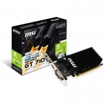 Placa Video MSI nVidia GT710 1GB GDDR3 64-bit PCI-E x16 2.0 DVI HDMI DisplayPort GT710 1GD3H LP
