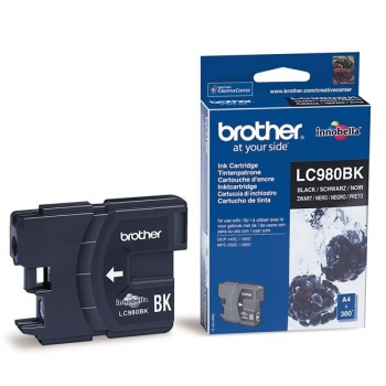Cartus Cerneala Brother LC980BK Black capacitate 300 pagini for Brother DCP-145C, DCP-165C, DCP-195C, DCP-365CN, DCP-375CW, MFC 250C, MFC 290C, MFC 295CN
