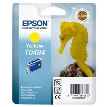 Cartus Cerneala Epson T0484 Yellow capacitate 400pagini for R200, R220, R300, R320, R340, RX500, RX600, RX620, C13T04844010
