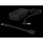 Alimentator HP 65W, Cablu de alimentare inclus, Tensiune de alimentare 18.5V, Conectivitate 1 USB 2.0, Greutate 280 g,dimensiuni 4.7 x 2.8 x 10.6 cm, Compatibil cu HP 24X G2, 25X G2; Mobile Thin Client mt41; Pro x2; ProBook 64X G1, 65X G1, Culoare neagra
