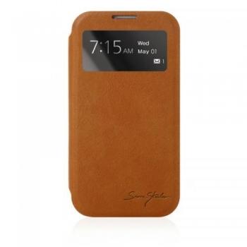 Husa Samsung Flip S-View pentru Samsung Galaxy S IV i9500 maro EF-CI950BAEGWW