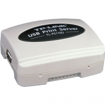 Print Server TP-LINK TL-PS110U 1x USB 2.0 Port suporta E-mail Alert Internet Printing Protocol (IPP) SMB POST
