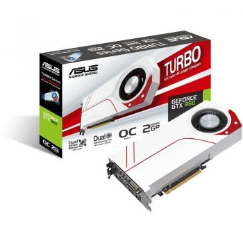 Placa Video Asus nVidia GeForce GTX 960 2GB GDDR5 128 bit PCI-E x16 3.0 DVI HDMI DisplayPort TURBO-GTX960-OC-2GD5