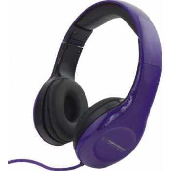 Casti Esperanza Hip-Hop EH138V Purple cu control volum 5901299903728