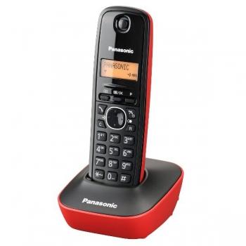 Telefon DECT Panasonic KX-TG1611FXR negru-rosu