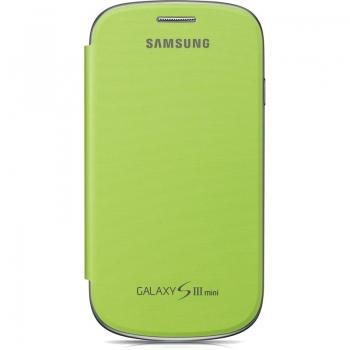 Husa Samsung EFC-1M7FMEGSTD pentru i8190 Galaxy S III Mini Flip Cover Green Mint