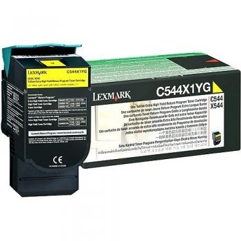 Cartus Toner Lexmark C544X1YG Yellow Extra High Yield Return Program 4000 pagini for C544, X544, C546, X546, X548