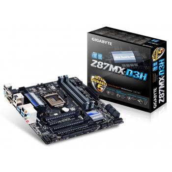 Placa de baza Gigabyte Z87MX-D3H Socket 1150 Chipset Intel Z87 4x DIMM DDR3 2x PCI-E x16 3.0 1x PCI-E x16 2.0 1x PCI-E x1 HDMI DVI VGA DP 4x USB 3.0 MicroATX