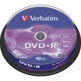 DVD+R Verbatim 4,7GB 16X 10 bucati 43498
