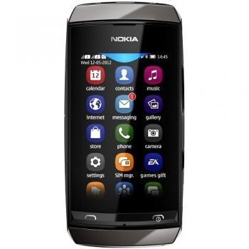 Telefon Mobil Nokia Asha 305 Dark Grey Dual Sim NOK305GR