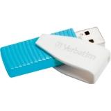 Memorie USB Verbatim Store n Go Swivel 8GB USB 2.0 Caribbean Blue 49812