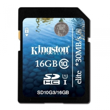 Card Memorie SDHC Kingston 16GB Clasa de viteza 10 SD10G3/16GB