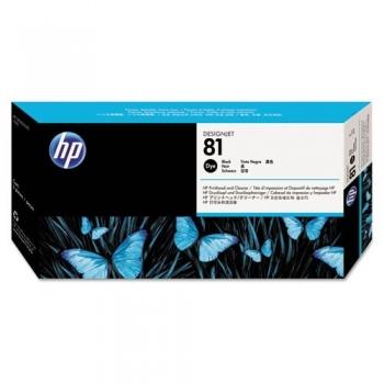 Cap Printare & Cleaner HP Nr. 81 Dye Black for Designjet 5000/UV, 5500 42', 5500 60', 5500 PS 42', 5500 PS 60', 5500 PS UV 42', 5500 PS UV 60', 5500 UV 42', 5500 UV 60', 5500MFP A0 C4950A