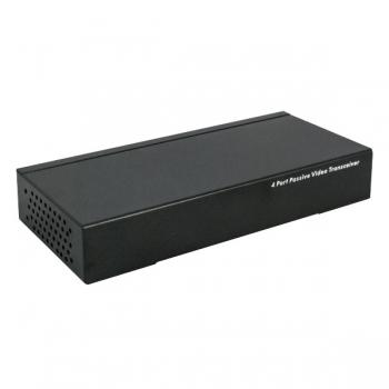 Balun video pasiv UTP104P 4 canale, folosit in retele CCTV cu transmisie prin cablu UTP.