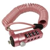 "Cablu antifurt laptop, cifru, pink, Logilink ""NBS007"""