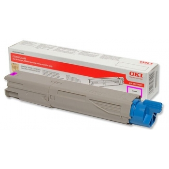 Cartus Toner Oki 43459330 Magenta High Capacity 2500 Pagini for C3300N, C3400N, C3450N